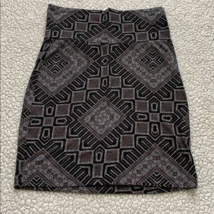 Pencil Skirt, Charlotte Russe, Small, Tribal Print